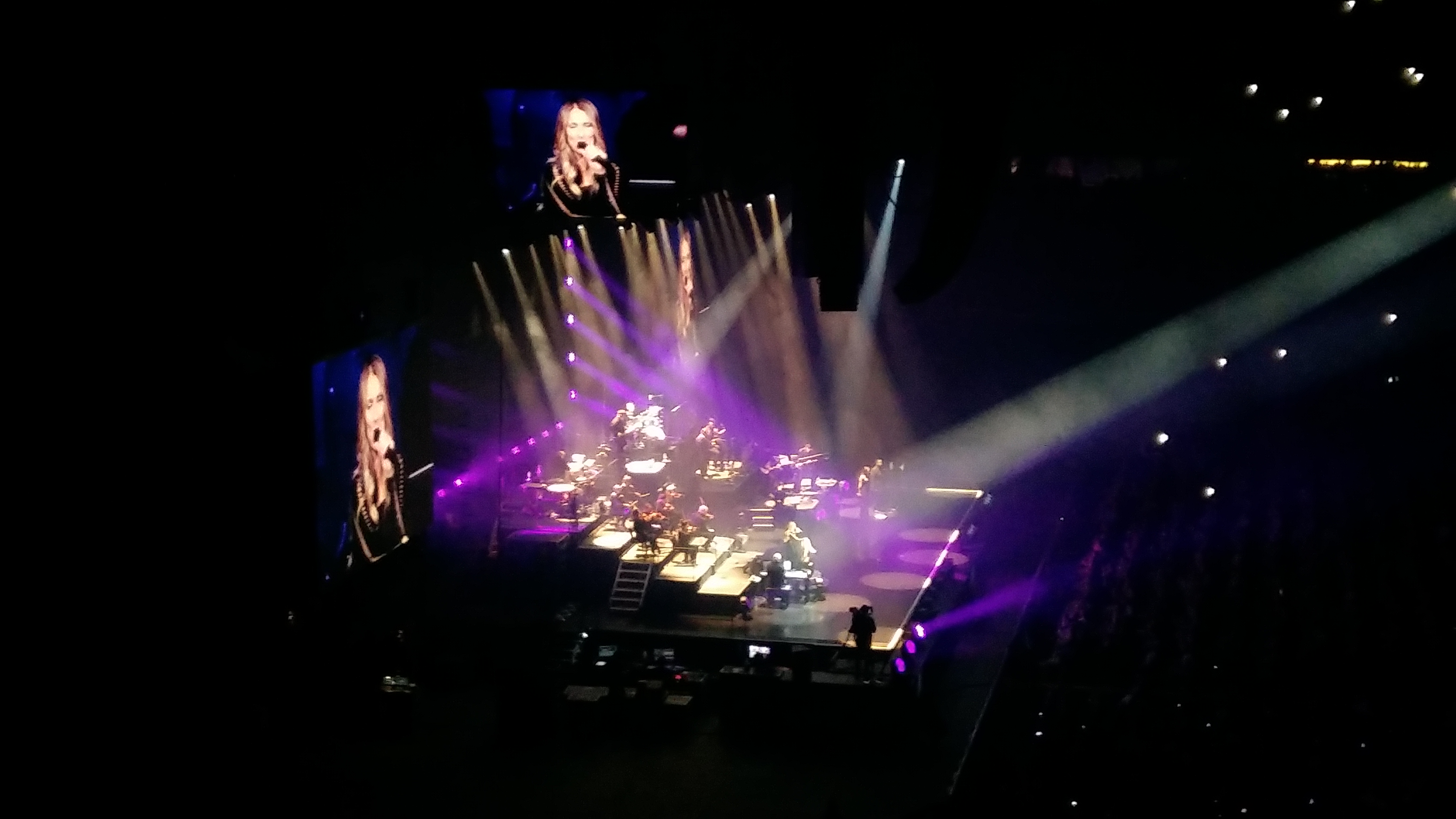 Celine Dion på scen 17 juni 2017.